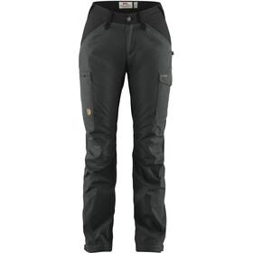 Fjällräven Kaipak Pantalones Curvado Mujer, dark grey/black